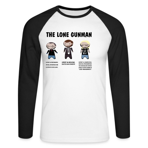 x files lonegunman - Raglán manga larga hombre