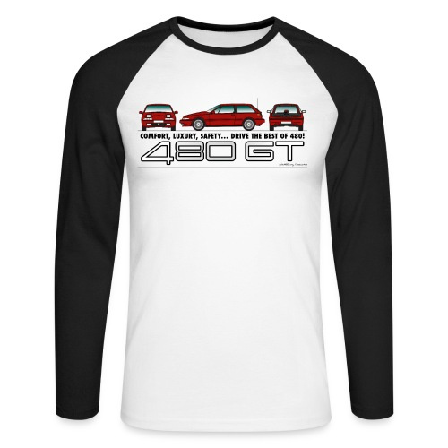 480 GT - T-shirt baseball manches longues Homme