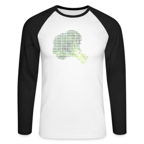 Vegan - Langermet baseball-skjorte for menn