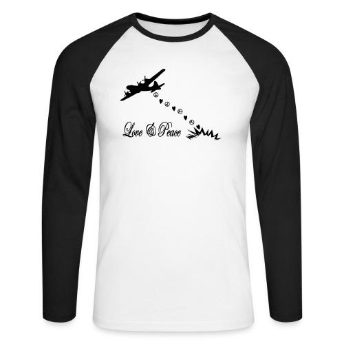 Bomber bringen love and peace, Liebe und Frieden - Männer Baseballshirt langarm