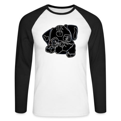 Pug Face - Men's Long Sleeve Baseball T-Shirt