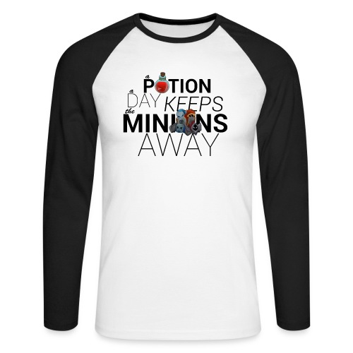 A Potion a day keeps the minions away png - Men's Long Sleeve Baseball T-Shirt