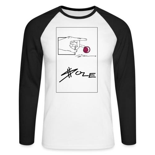 SOLE Hand Design png - Männer Baseballshirt langarm