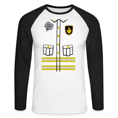 Firefighter Costume - Men's Long Sleeve Baseball T-Shirt