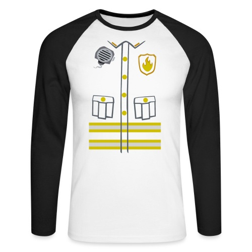 Fireman Costume - Dark edition - Men's Long Sleeve Baseball T-Shirt