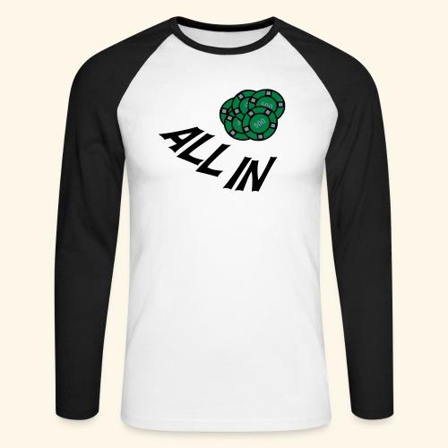 allin1 - Männer Baseballshirt langarm