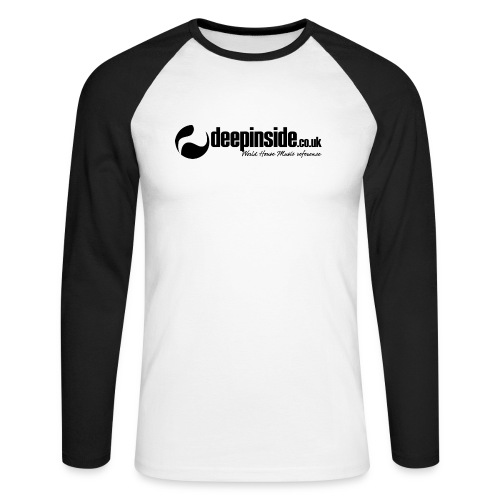 DEEPINSIDE World Reference logo black - Men's Long Sleeve Baseball T-Shirt