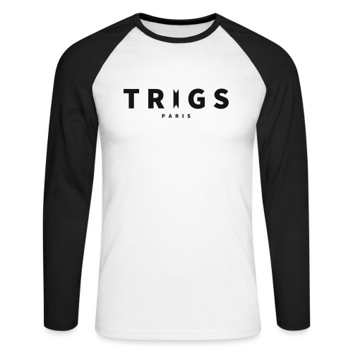 Logo Trigs Paris png - T-shirt baseball manches longues Homme