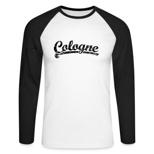 Cologne Classic Vintage Schwarz - Köln Design - Männer Baseballshirt langarm