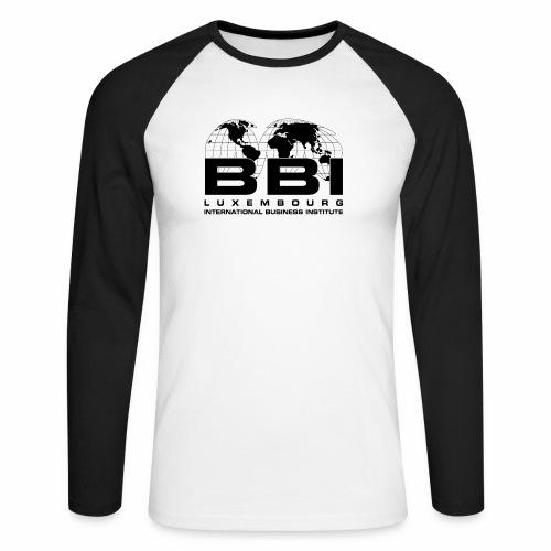 Black Logo Collection - Men's Long Sleeve Baseball T-Shirt