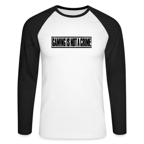 Gaming is not a crime - T-shirt baseball manches longues Homme