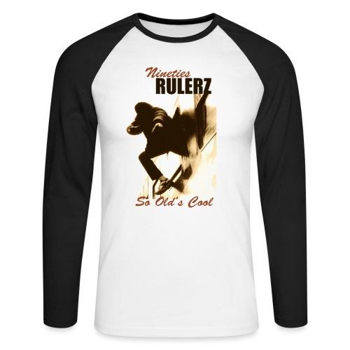 Nineties Rulers SoOldscool 1 jpg - Männer Baseballshirt langarm