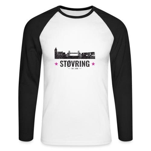 Støvring City Black Magenta - Langærmet herre-baseballshirt
