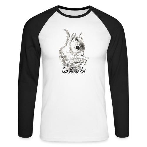 Ecureuil la clope - T-shirt baseball manches longues Homme