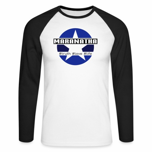 maranatha blau-braun - Männer Baseballshirt langarm