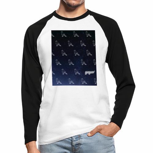 pigeonarmay in space - Männer Baseballshirt langarm