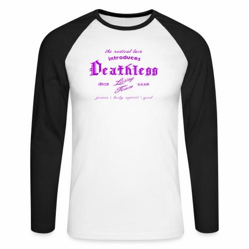 deathless living team violet - Männer Baseballshirt langarm