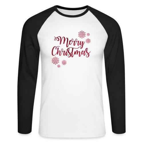 Merry christmas Noël New shape fane design vintage - T-shirt baseball manches longues Homme