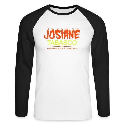josiane tabasco - T-shirt baseball manches longues Homme