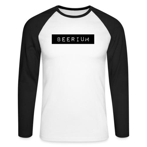 BEERIUM logo svart - Långärmad basebolltröja herr