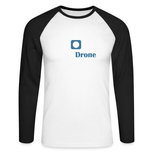 ListerDrone logo - Langermet baseball-skjorte for menn