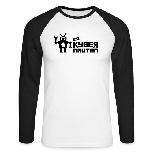 kyber_logo2_schwarz - Männer Baseballshirt langarm