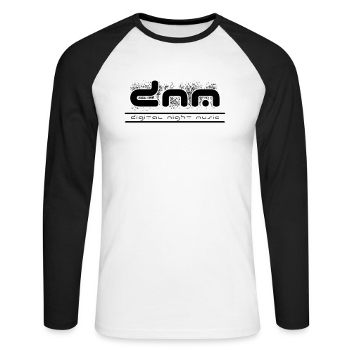 dnm logo whitebg 4000x1767 - Men's Long Sleeve Baseball T-Shirt