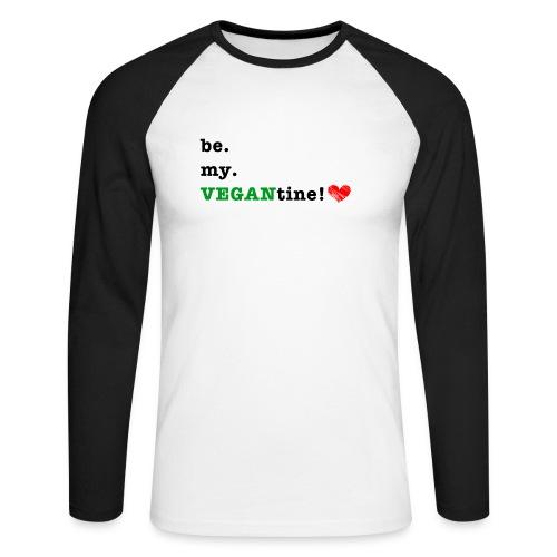 VEGANtine Green - Men's Long Sleeve Baseball T-Shirt