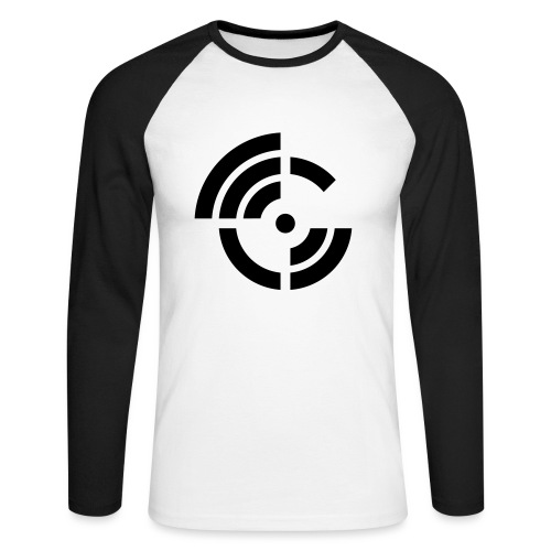 electroradio.fm logo - Men's Long Sleeve Baseball T-Shirt