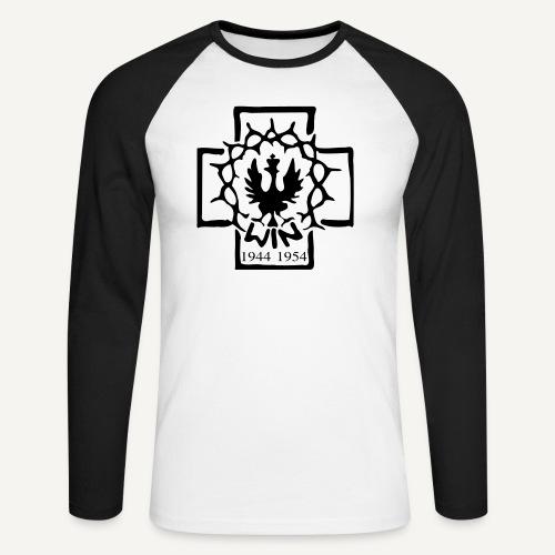 win - Koszulka męska bejsbolowa z długim rękawem