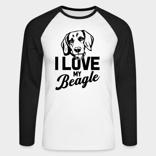 I LOVE MY BEAGLE - Männer Baseballshirt langarm
