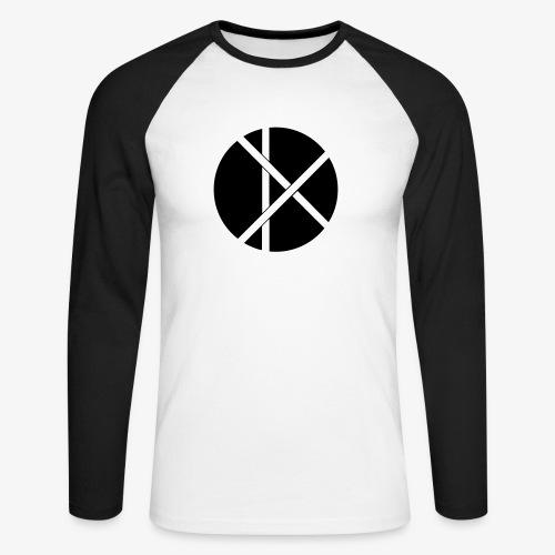 Don Logo - musta - Miesten pitkähihainen baseballpaita