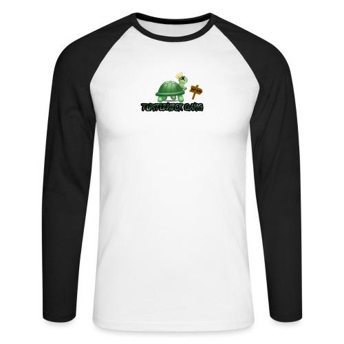 Turtle Neck Design 1 - Men's Long Sleeve Baseball T-Shirt