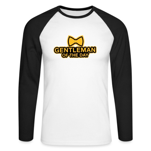 Gentleman of the day - JGA T-Shirt - Bräutigam - Männer Baseballshirt langarm
