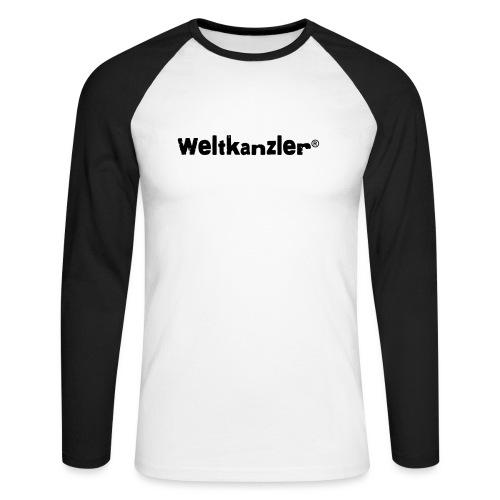 Weltkanzler® Männer Vintage T-Shirt - Männer Baseballshirt langarm