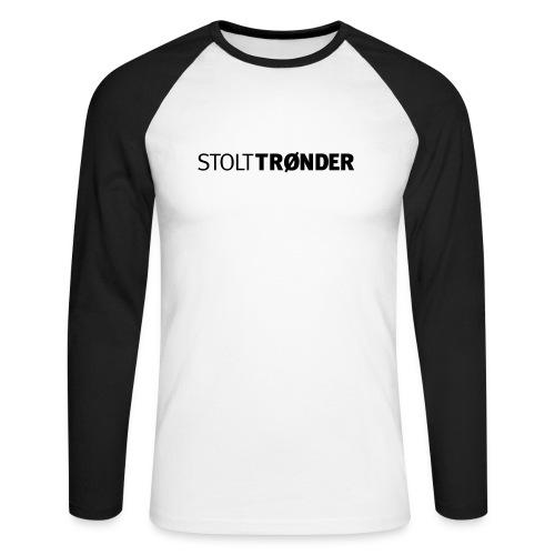 stolttronder logo - Langermet baseball-skjorte for menn
