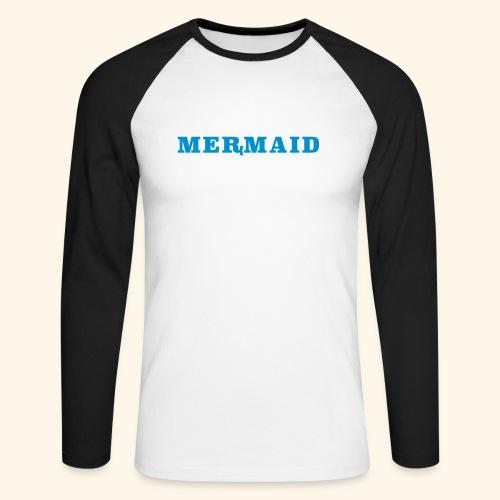 Mermaid logo - Långärmad basebolltröja herr