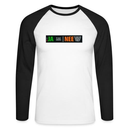 Ja ik maak websites - Mannen baseballshirt lange mouw