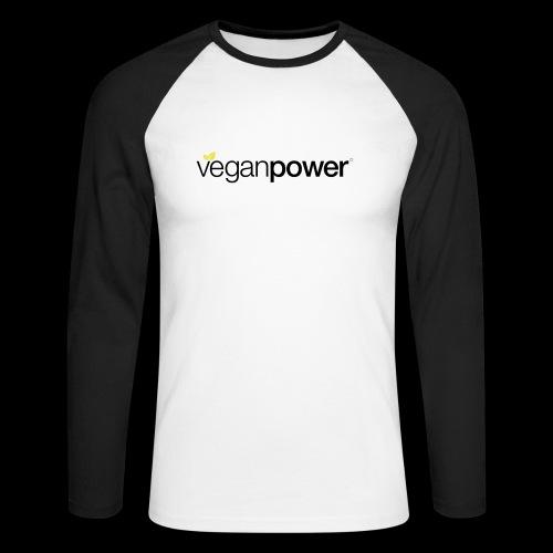 veganpower Lifestyle - Männer Baseballshirt langarm