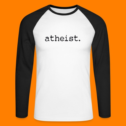 atheist BLACK - Men's Long Sleeve Baseball T-Shirt