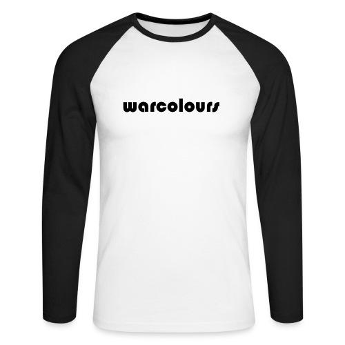 warcolours logo - Men's Long Sleeve Baseball T-Shirt