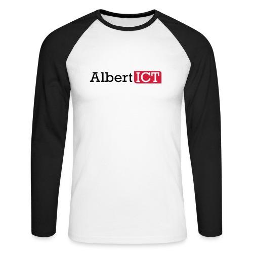 AlbertICT logo full-color - Mannen baseballshirt lange mouw