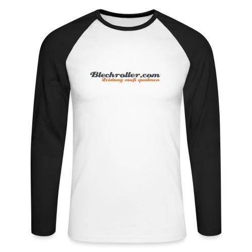 blechroller logo - Männer Baseballshirt langarm
