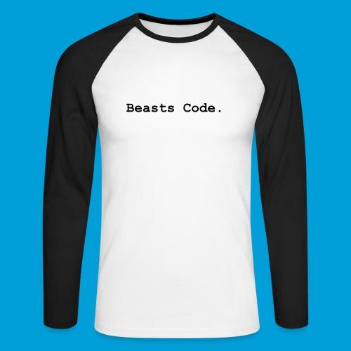 Beasts Code. - Men's Long Sleeve Baseball T-Shirt