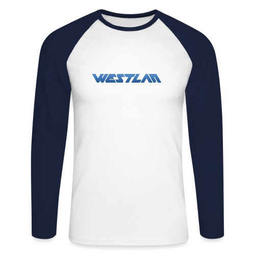 WestLAN Logo - Men's Long Sleeve Baseball T-Shirt