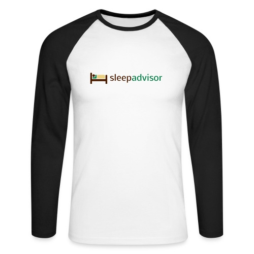 SleepAdvisor - Maglia da baseball a manica lunga da uomo