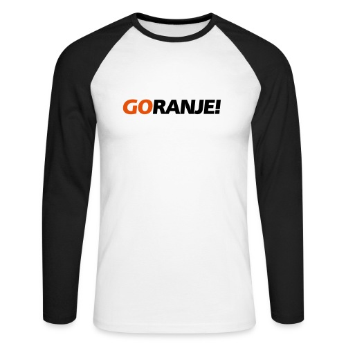 Go Ranje - Goranje - 2 kleuren - Mannen baseballshirt lange mouw