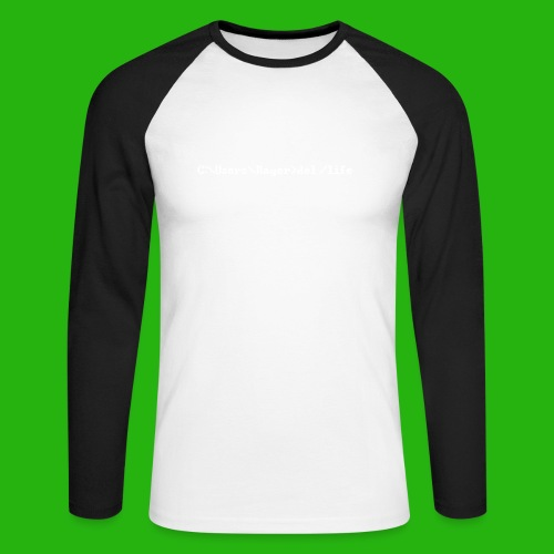 Programming Get A Life - Men's Long Sleeve Baseball T-Shirt