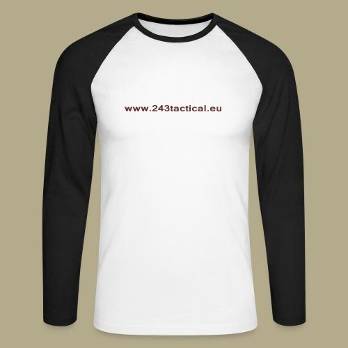 .243 Tactical Website - Mannen baseballshirt lange mouw