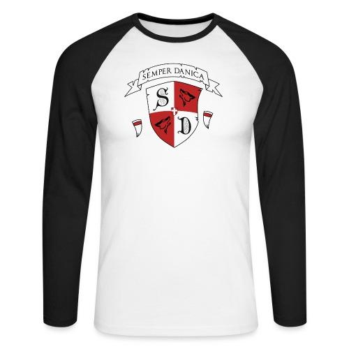 SD logo - hvide lænker - Langærmet herre-baseballshirt